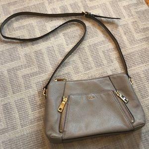Ralph Lauren Cream Leather Crossbody Bag